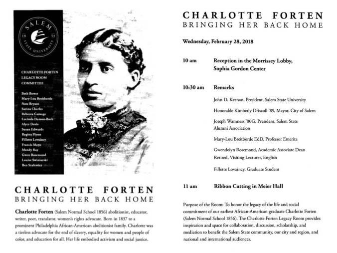 Charlotte Forten Dedication Program